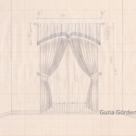 Original Gunagorden - Gorden design valance pleate combination style