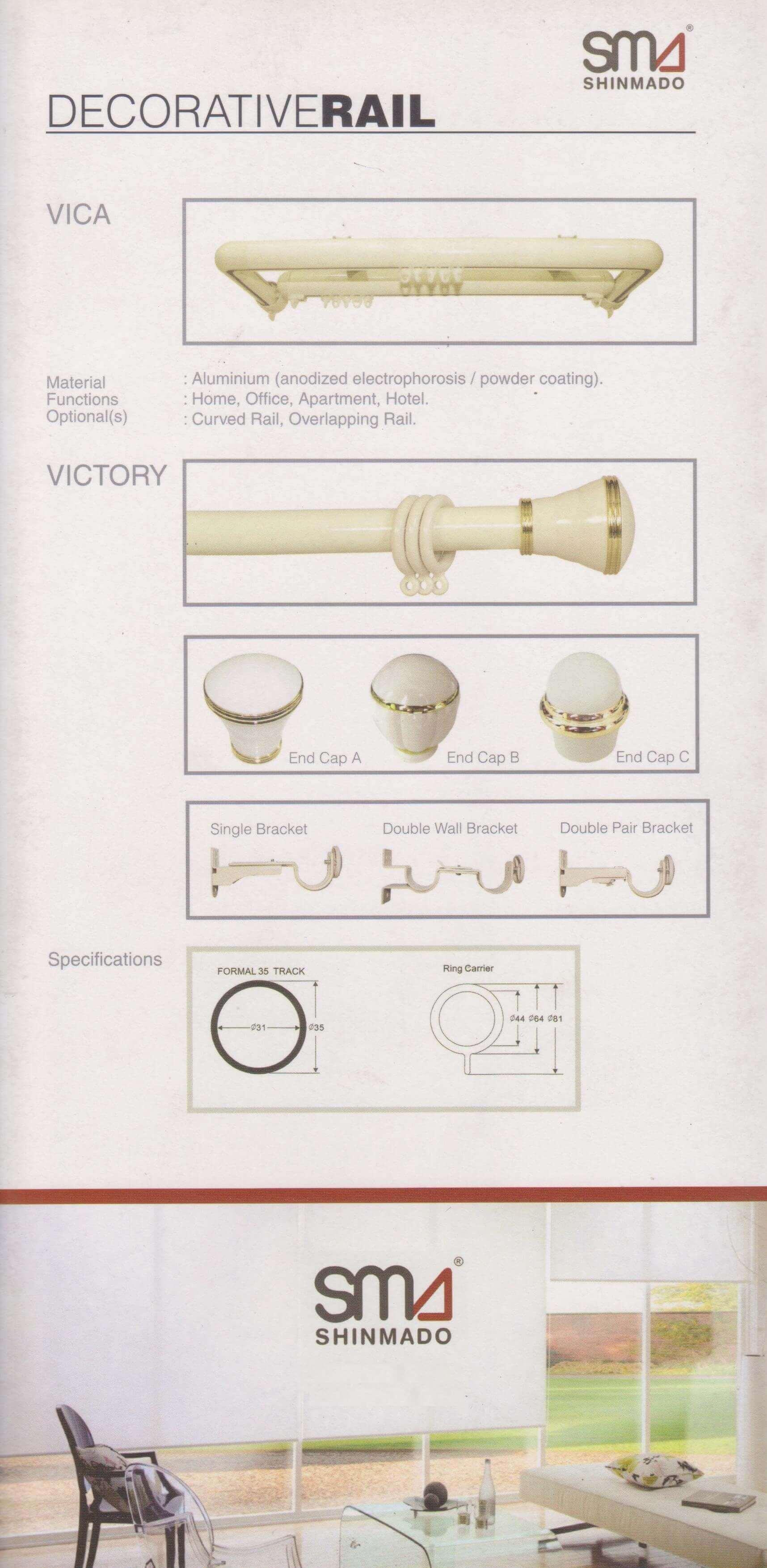 Shinmado Vica Victory decorative rail