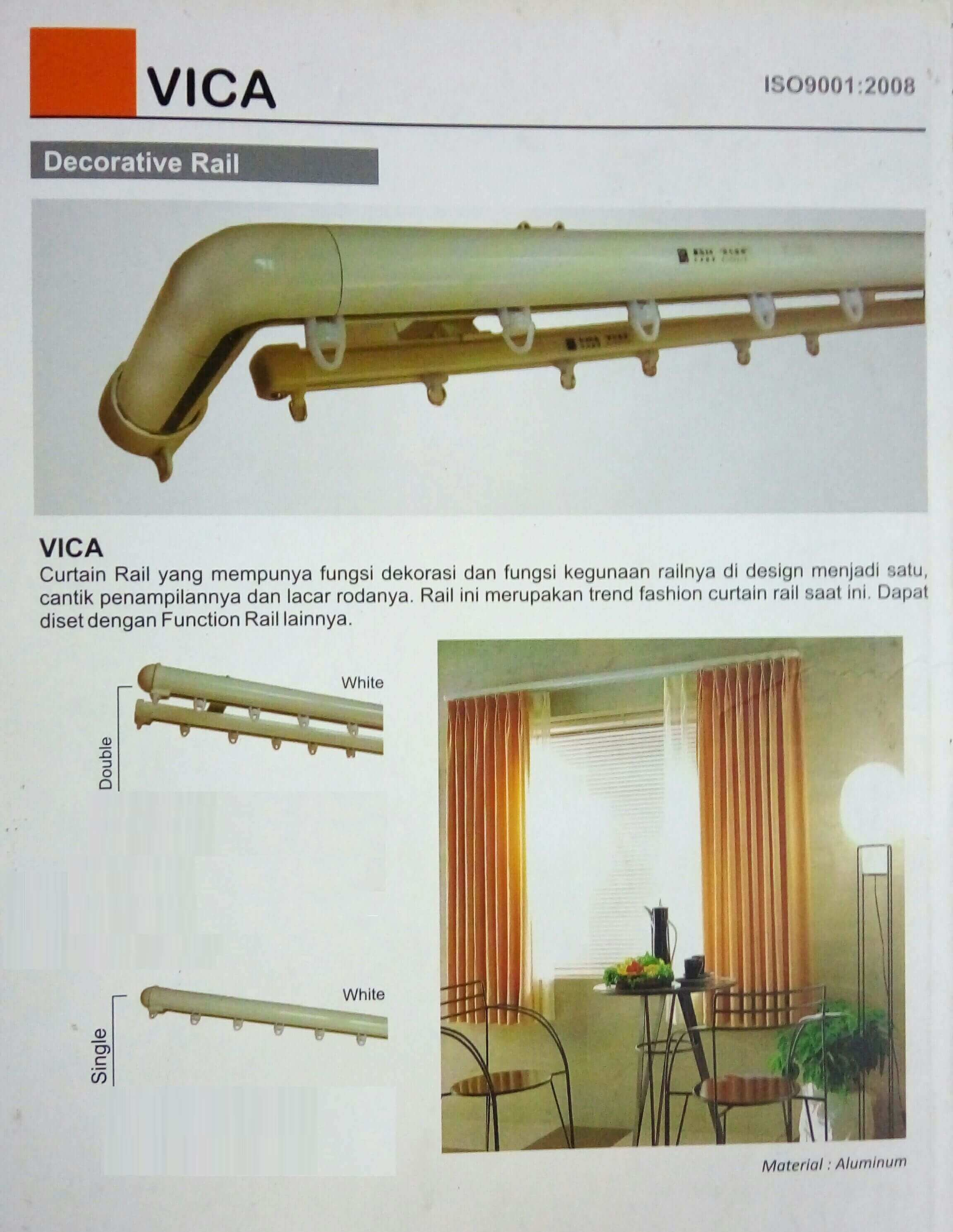 vica curtain railing decorative type untuk gorden